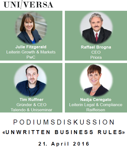 "Podiumsdiskussion ""Unwritten Business Rules"""